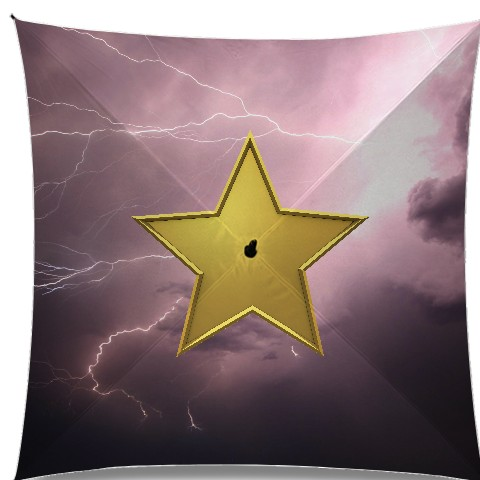 A star in a world of hate :D Medium Umbrella