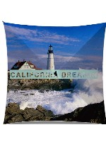 California dreamin lighthouse Medium Umbrella