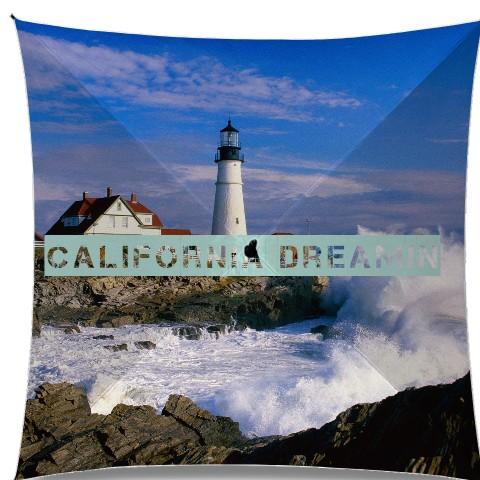 California dreamin lighthouse Medium Umbrella