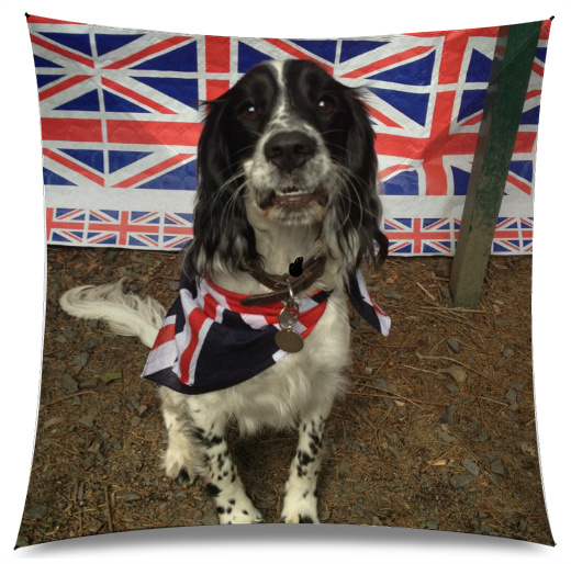 Union Jack Spaniel Medium Umbrella